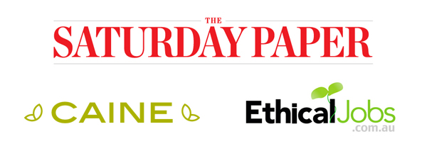 SilveSponsors: The Saturday Paper, Caine, Ethical Jobs