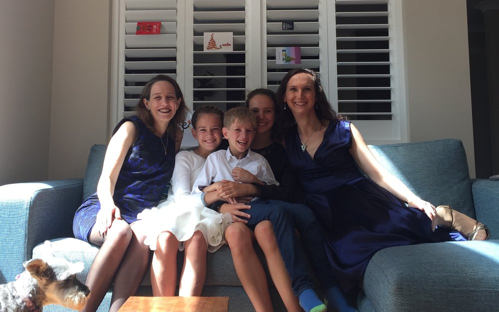 Kate Toyer and her family