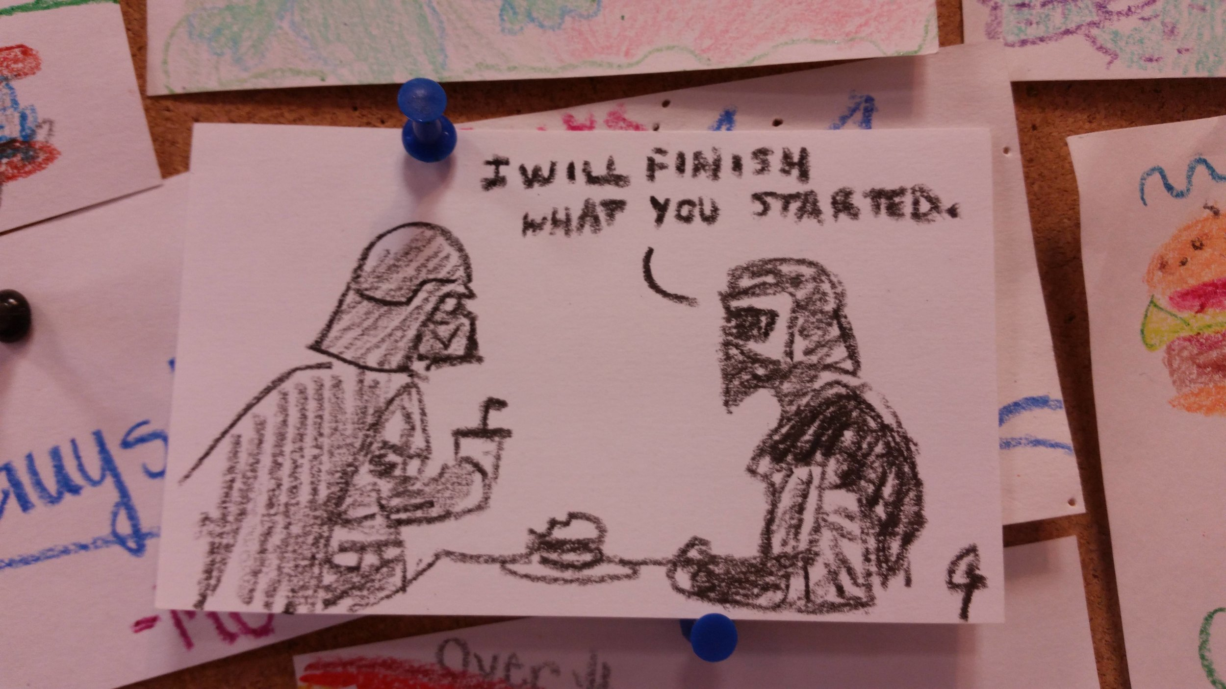 fan art from a Five Guys Restaurant