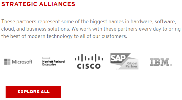 Red Hat shows how partnering with them will mean you make decisions like the titans of industry.
