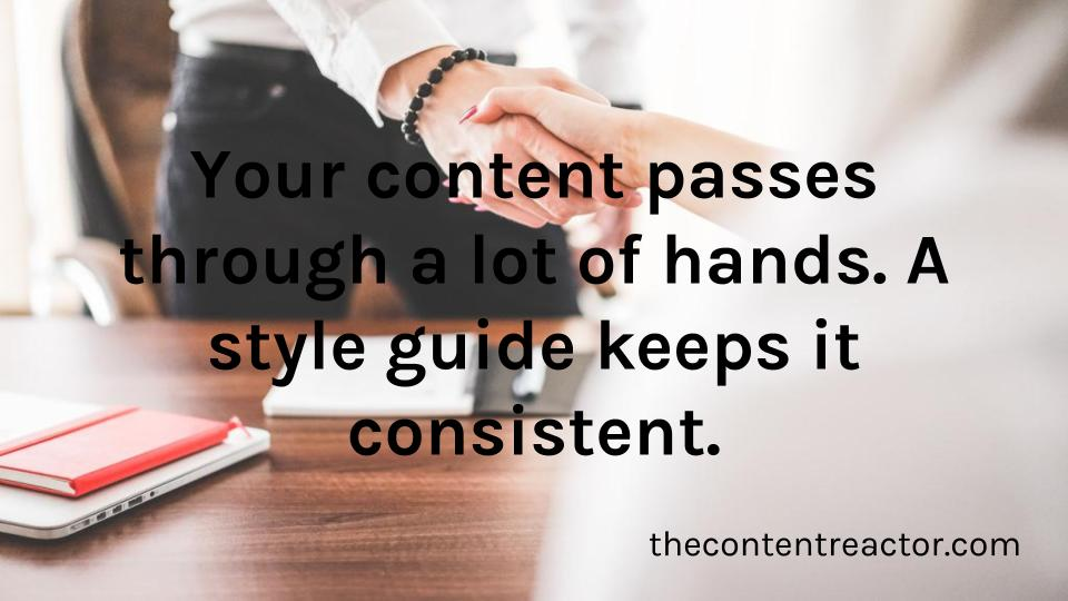 Having a style guide will help writers, editors, proofreaders, and translators stay on the same page.