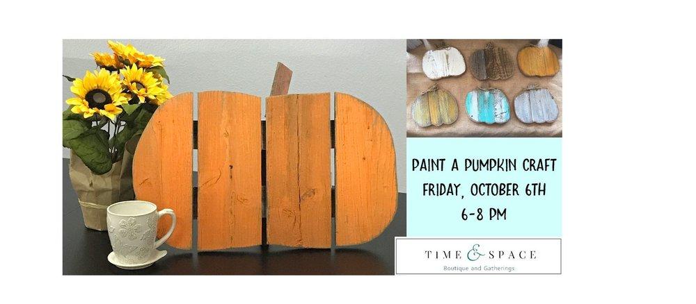 Pumpkin Orange Paint paint a rustic pumpkin at time & space — time & space
