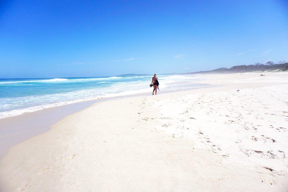 Soft white sand. Nothing better.