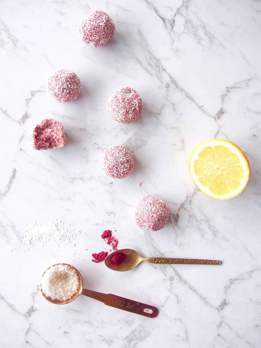 raspberry lemonade bliss balls