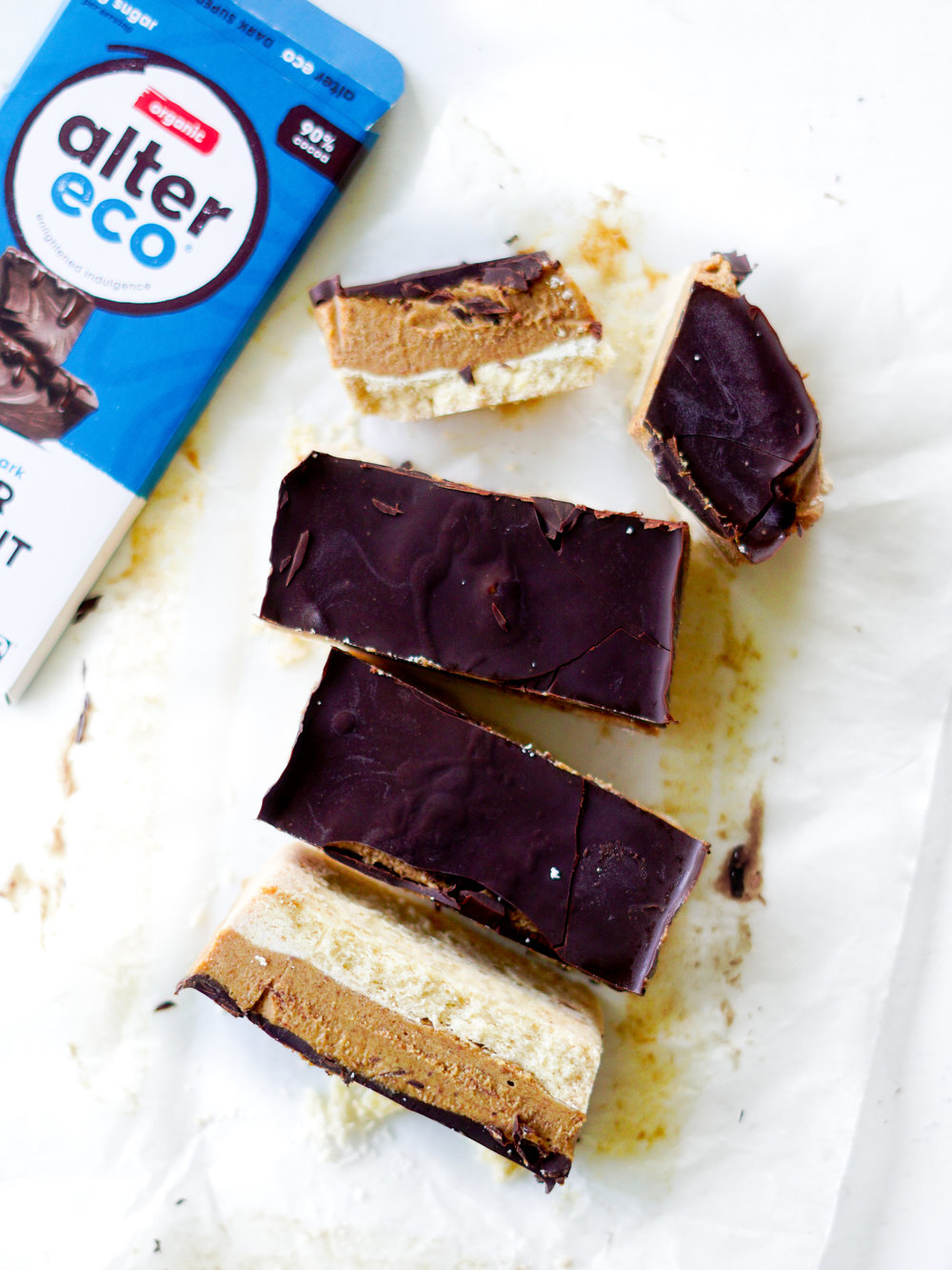 caramel slice health food project food photography