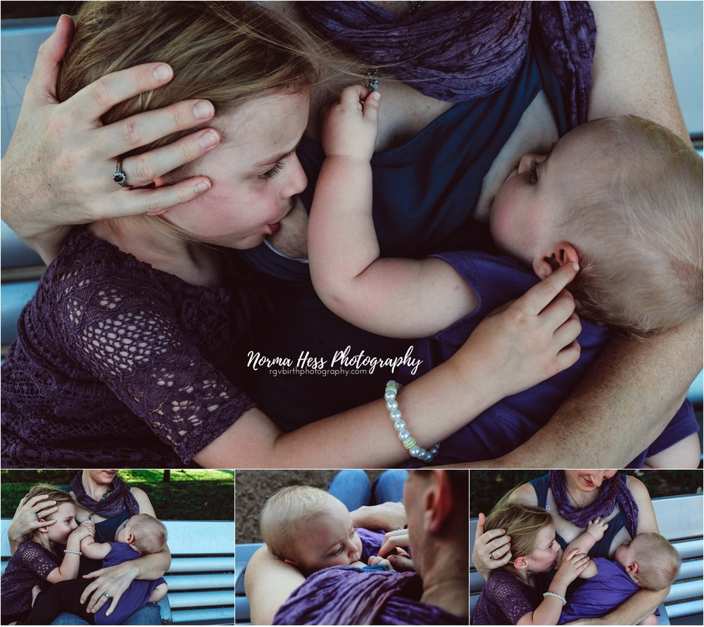 Tandem Nursing McAllen, Texas | Breastfeeding Photos by Norma Hess