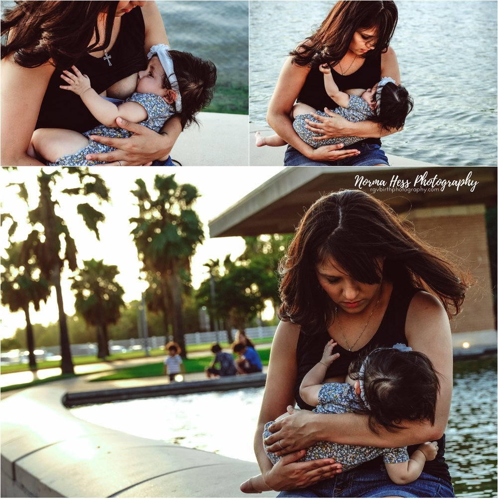 Breastfeeding in public in McAllen, TX | Normalizing breastfeeding for World Breastfeeding Week 2018 | rgvbirthphotography.com | Norma Hess Photography