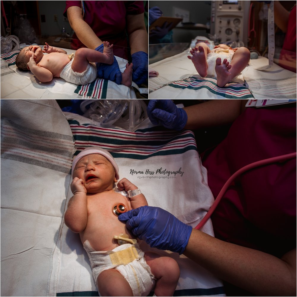 Newborn in-hospital photos by Norma Hess | McAllen doula, photos & video.
