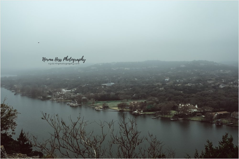 View from Covert Park at Mount Bonnell in Austin, Texas | Photo by Norma Hess Photography | McAllen Doula, Photo & Video