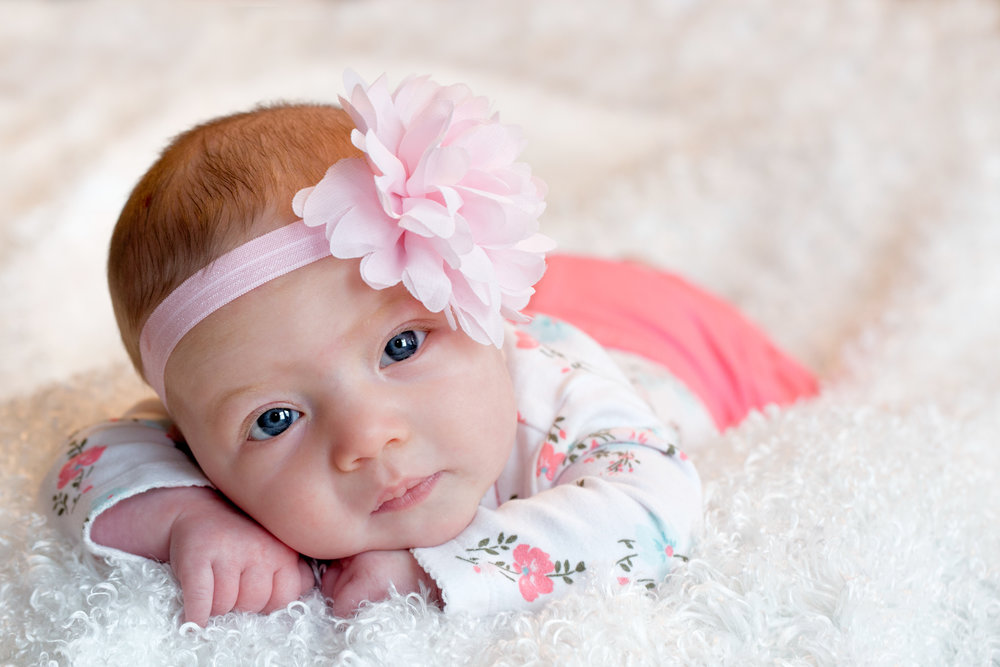 Baby girl with bow