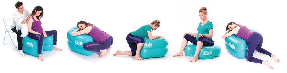 Comfortable Upright Birth support - CUB , can be used for various pregnacy, labour and birth positions.