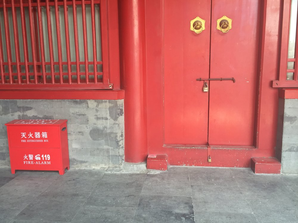 I was most fascinated by the red doors and details along the way (even on the fire alarm).