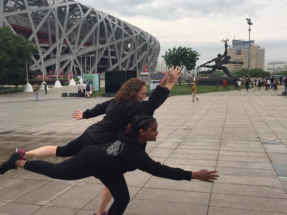 Shavonne - (@vonne_kaye) is an author and the blog curator for All Things Inspiration. She enjoys traveling, fitness, movies and the arts. Pictured here with Jennifer at the Beijing National Stadium (May 22, 2017).