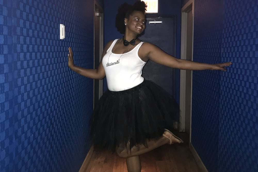 Shavonne was feeling playful before dinner at the Jellyfish, a sleek restaurant that serves Pan-Asian-inspired dishes.