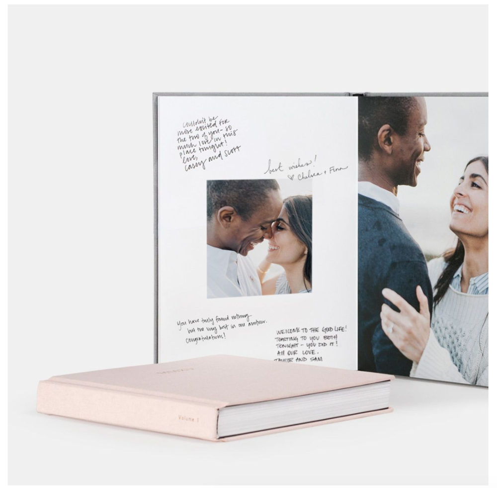 ENGAGEMENT GUESTBOOK  SLICK WRITER PEN WORKS BEST
