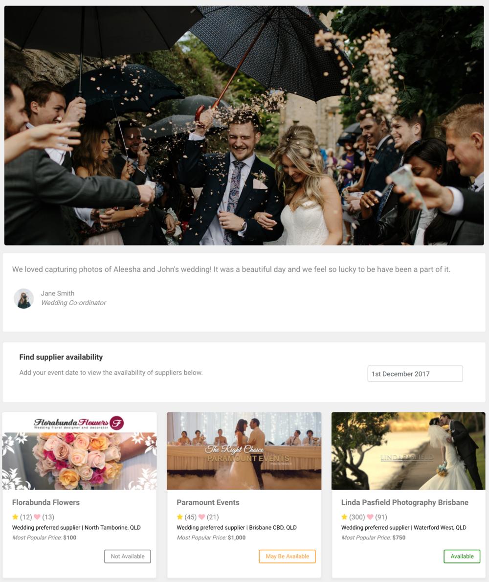 Supplier Network Portfolio Page