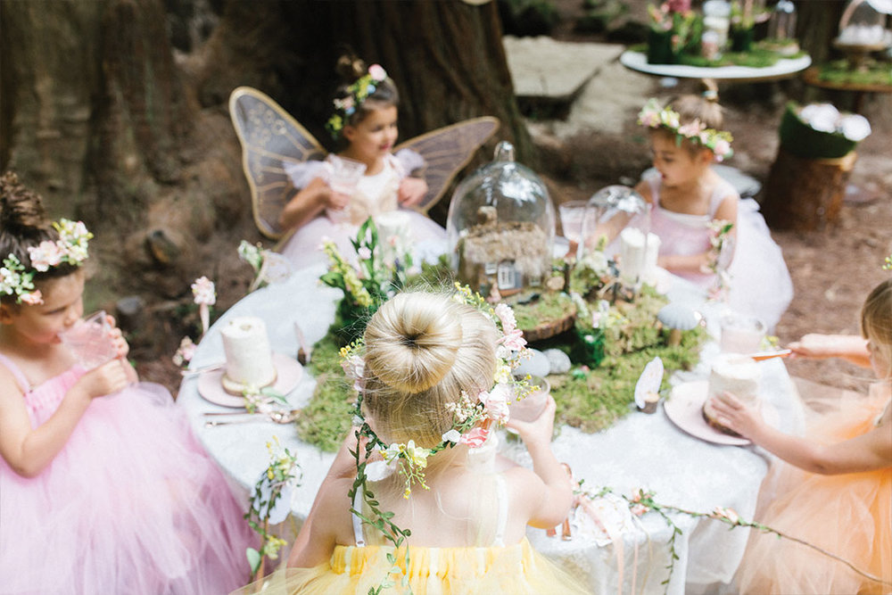 """Inspired by This - It was every little girl's dream walking into the enchanted forest and discovering our """"Woodland Fairy"""" party. Read about all the whimsical, dreamy, and magical details on Inspired by This."""