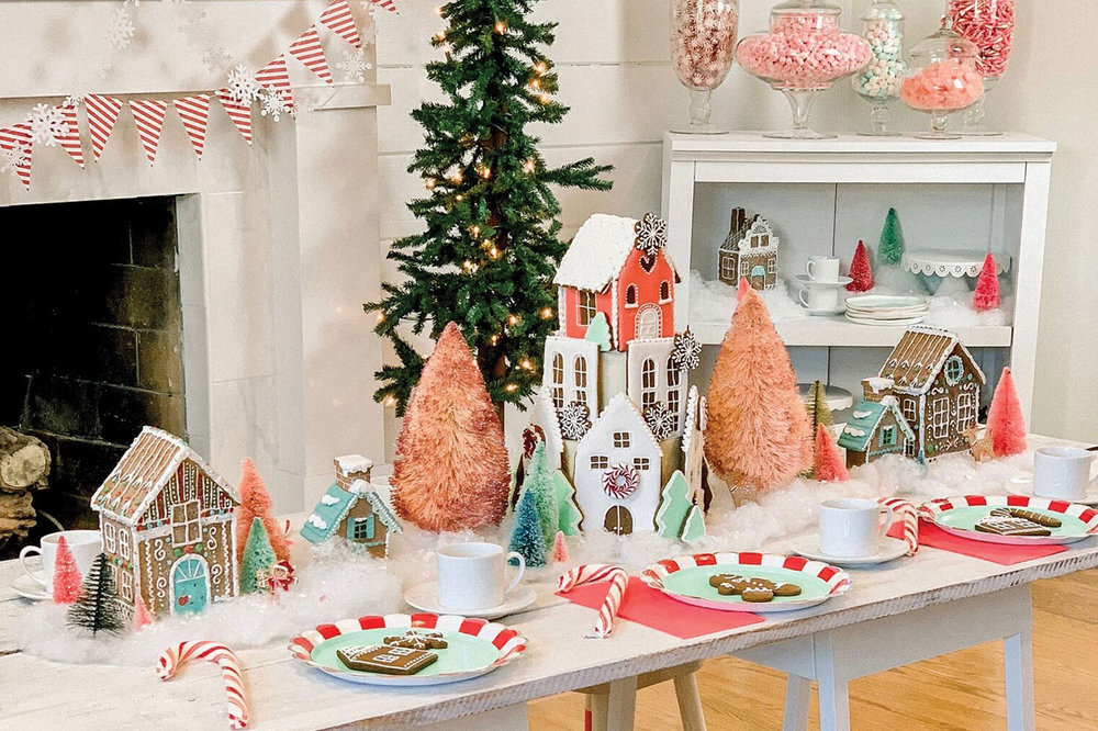 """Inspired by This - ''Twas the night before Christmas on Gingerbread Lane, where sugar plums danced with striped candy canes."""" Head on over to Inspired by This for all the tips and tricks to create your own gingerbread party!"""