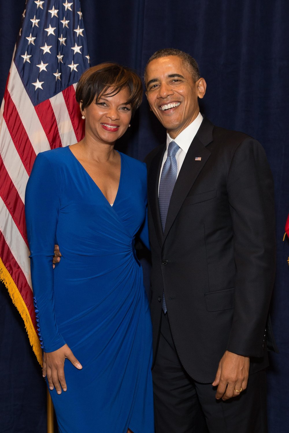 Shonda Scott and President Barack Obama