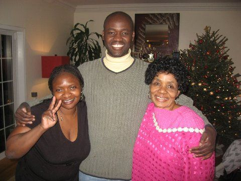 Xmas '08 with two of the most inspiring women I know: my cousin, Dr. Kafui Demasio (rated one of NY's top obstetrician) and my mom, going strong as a septuagenarian (after single-handedly putting five kids through college).