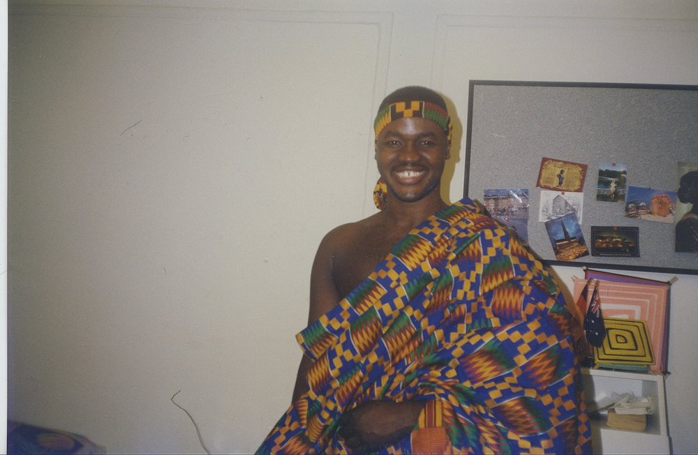 During the early 1980s, I wore outfits made of kente cloth either for fun or for special occasions. I didn't make it a habit considering the constant Africa-related jokes I had to tolerate while growing up in West Harlem.