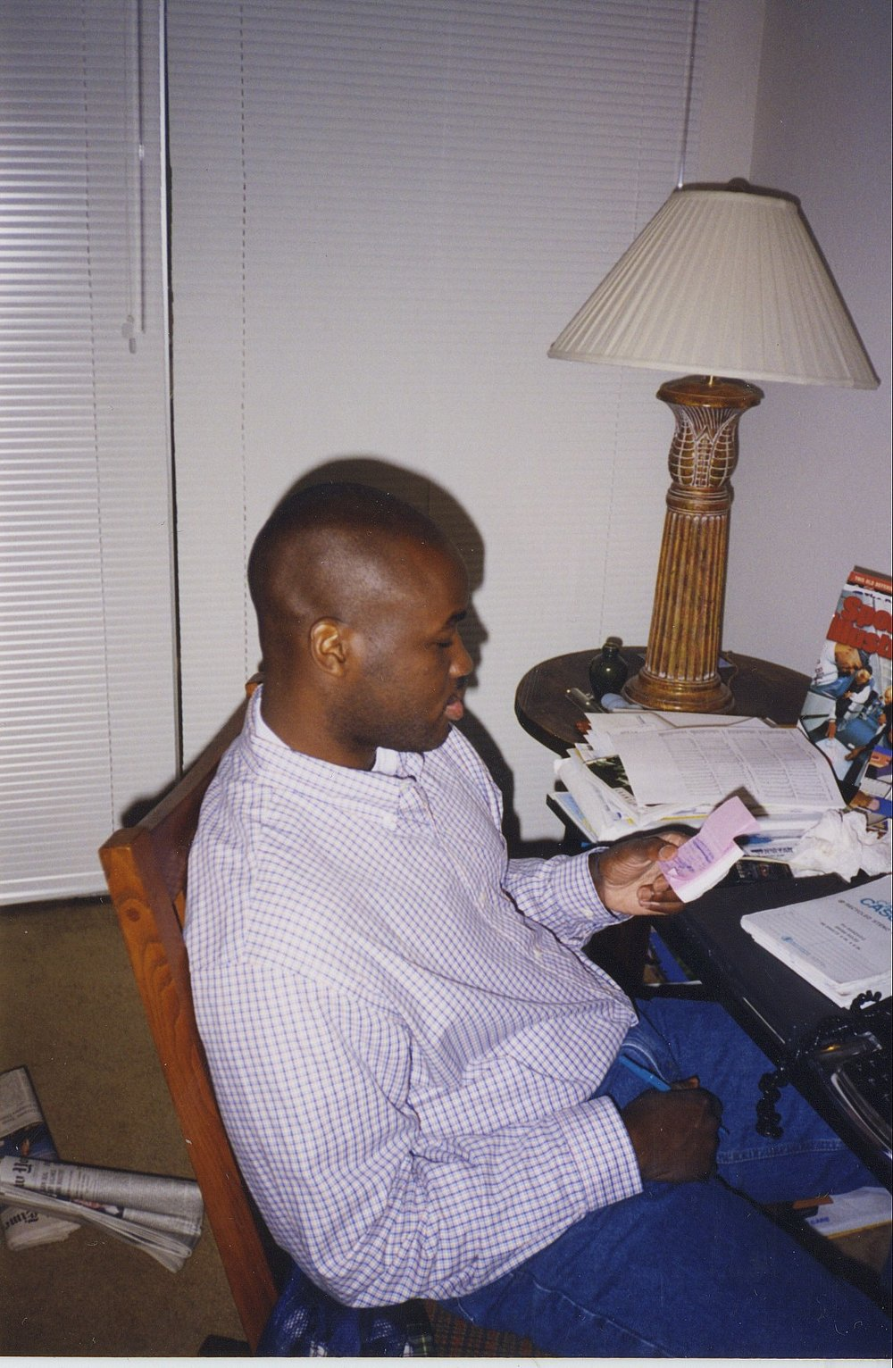 I'm checking out my to-do list at my home office in Seattle, where I lived from 1997 to 2002.