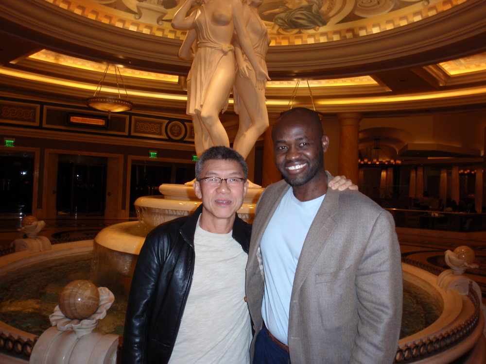 LAS VEGAS, November 20, 2009: What  are the odds that I would run into the bridegroom, Doug Lo, at Caesar's Palace the night before the big day .