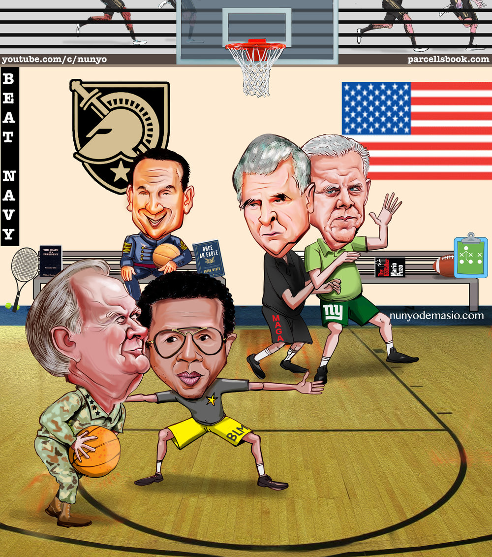 True story featuring Arthur Ashe, Bill Parcells, Bobby Knight, Coach K and Norman Schwarzkopf.
