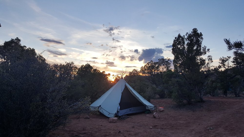 The end of my first backpacking trip