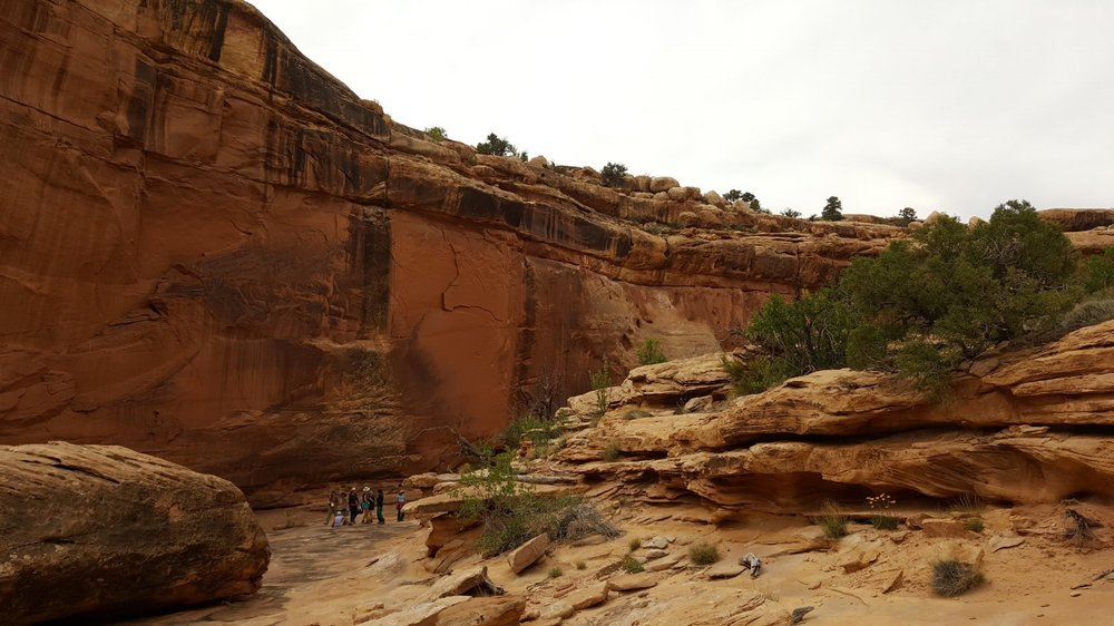 Our campsite in the Utah canyons