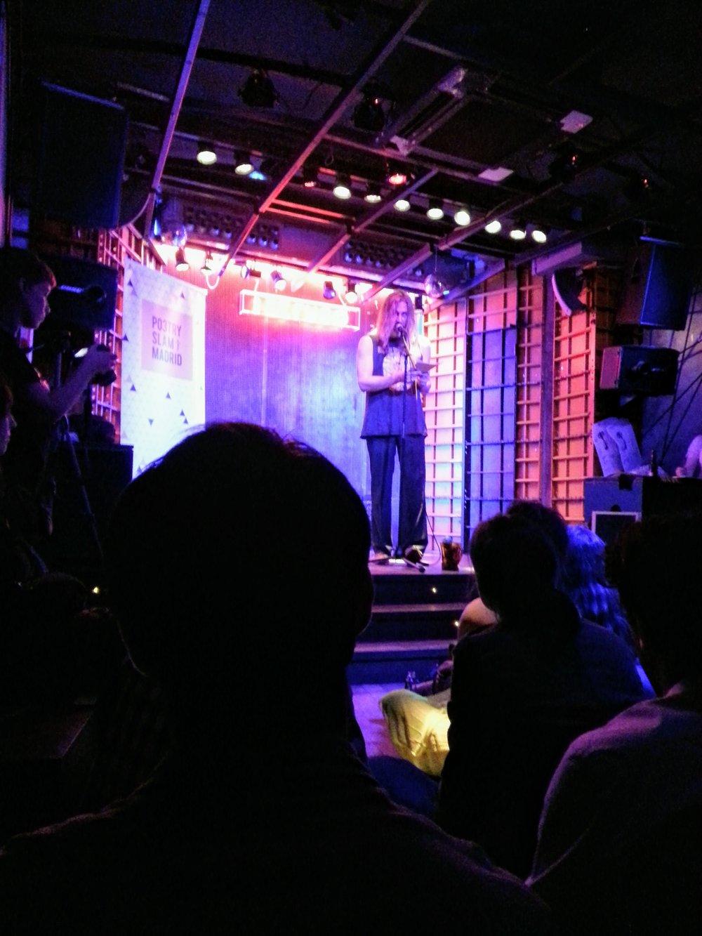 Random, yet memorable night at a Poetry Slam in Madrid