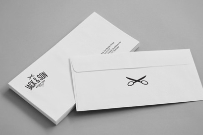 Complete your professional look with custom  standard-size printed envelopes. Select from one to two colors.