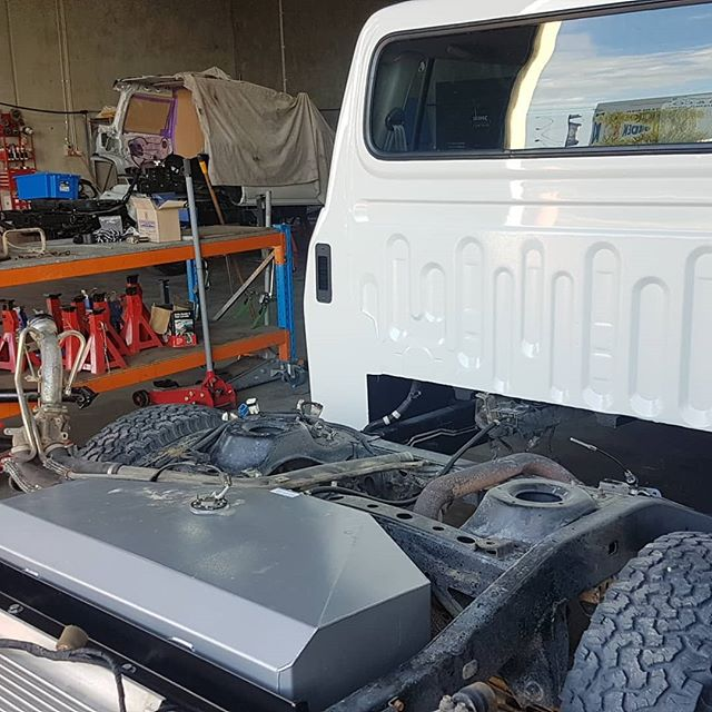 Great end to a couple big weeks.  Four chassis extensions knocked out. Two 80 series dual cabs just about ready for customer collection. A 6wd just about ready and prep for two more extensions coming shortly.  Next week will be welding spark, plasma arcs, and grinding dust galore. Have a great weekend!  #aev #AEVtownsville #4x4 #4wd #4x4australia #overlanding #makeityourown #customeverything #takemetotaylors #toyota #6wd #sparksfly #haveityourway #lx570 #lx450 #landcruiser80 #vdj200 #dualcabconversion #chassisextension #chopchop
