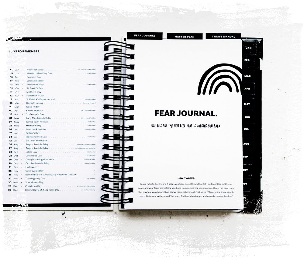 The Imperfect Life® Planner –fear journal