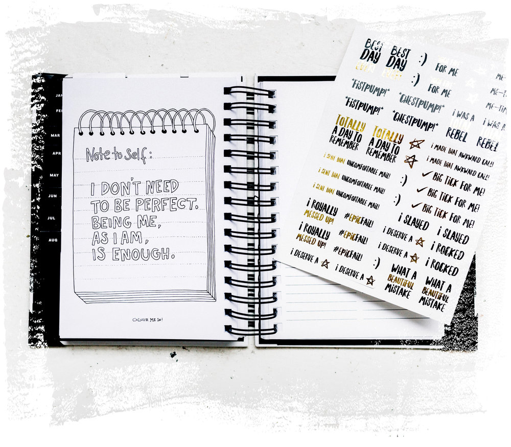The Imperfect Life® Planner – stickers and colouring-in pages