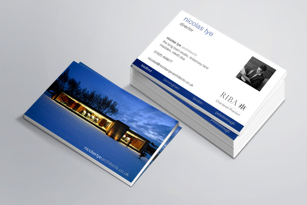 Nicolas tye architects rebrand tyler jaggs design business card g reheart Images
