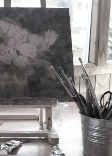 Painting flowers pink.jpg
