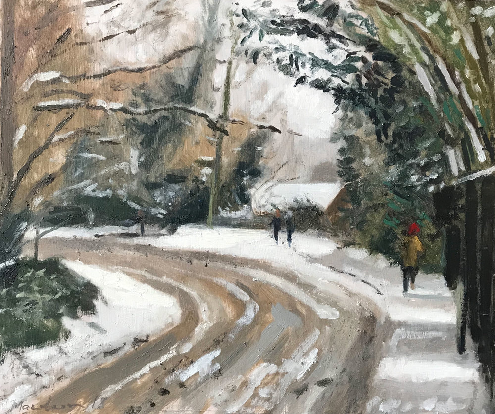 'Quiet on Hindhead Road' | oil on panel | 10x12""