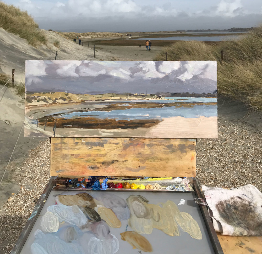 You can tell I didn't want to paint the dunes! I find it so difficult to paint the grasses without them looking contrived!