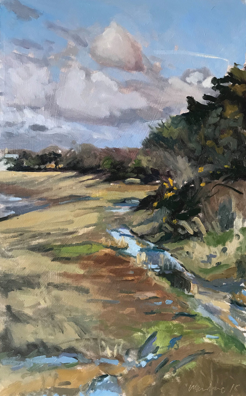 """'March afternoon, Snowhill Creek' 
