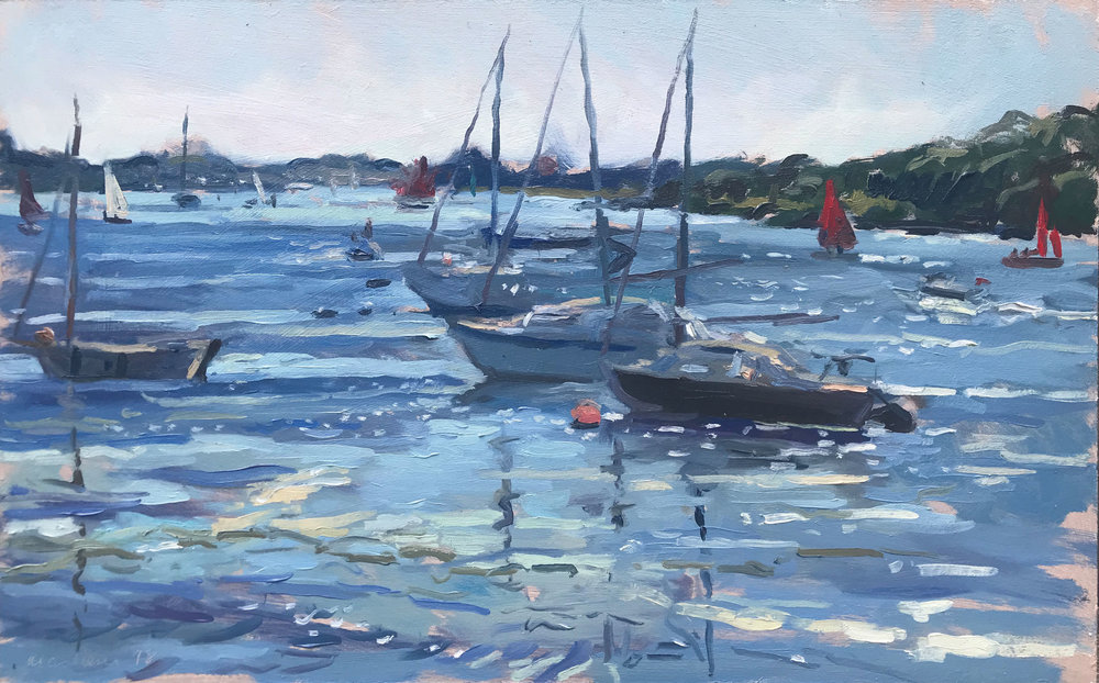 """RED SAILS, DELL QUAY   2018 