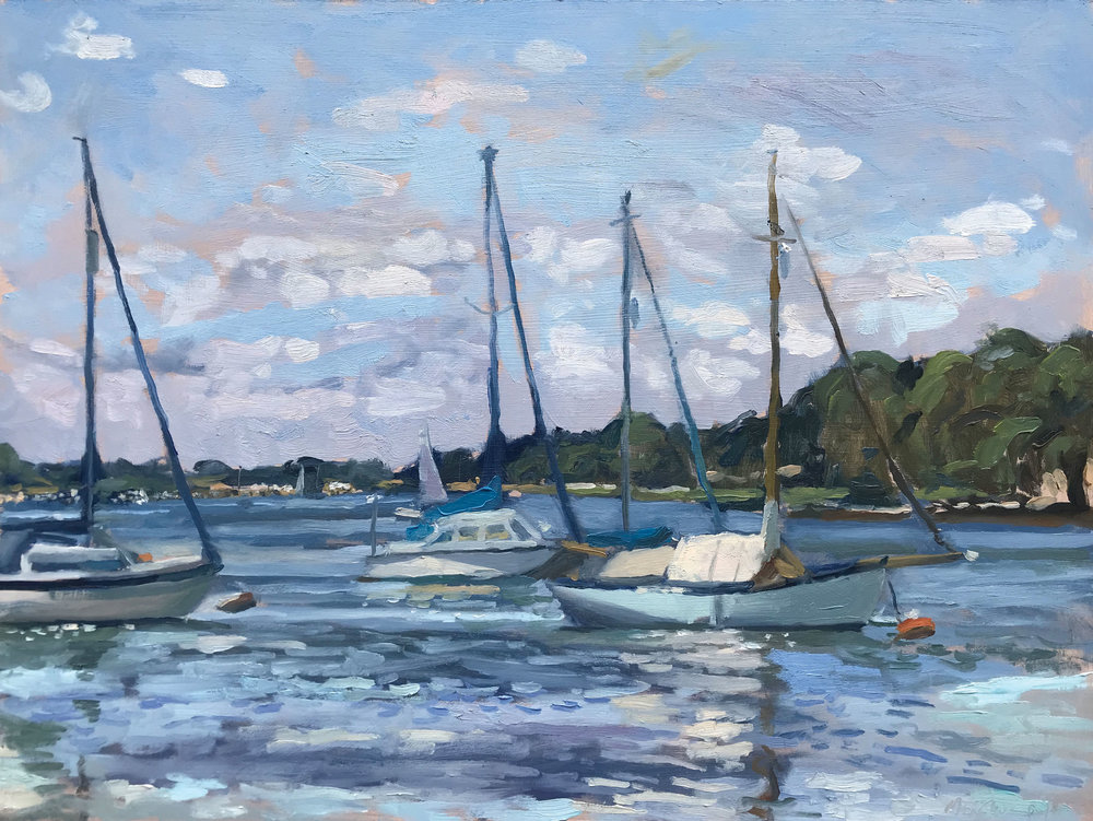 """WAITING, DELL QUAY   2018 