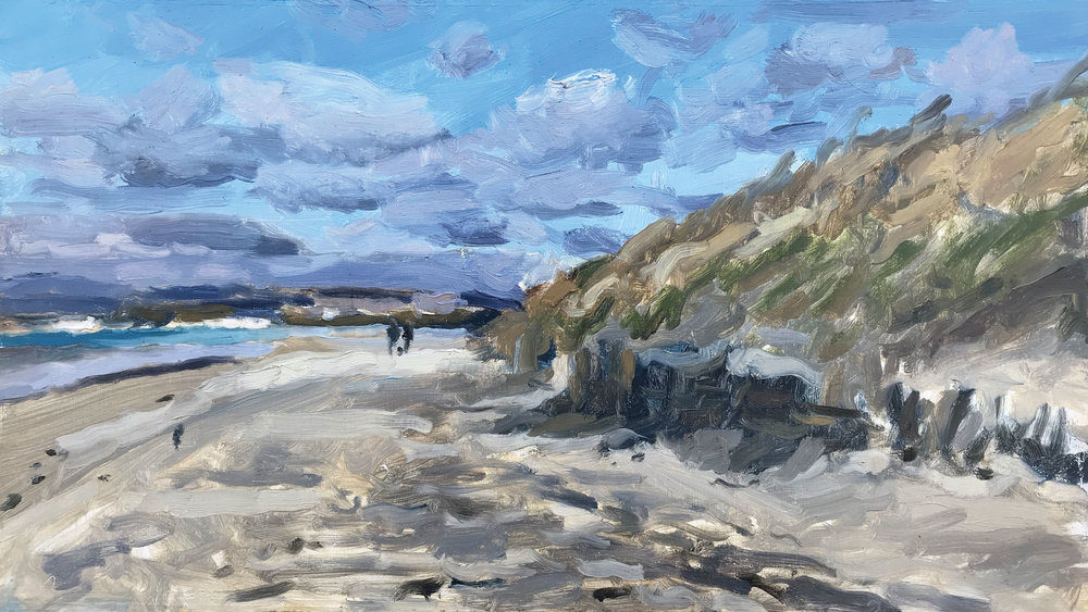 """BLOWING A GALE, EAST HEAD   2018 