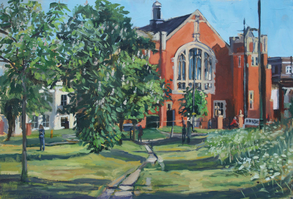 SIR BANISTER FLETCHER'S GREAT HALL   2017 | oil on board | 44x30cm  SOLD