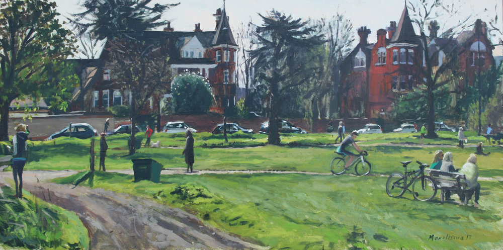 TWO TURRETS, SOUTHSIDE COMMON   2017 | oil on board | 60x30cm  SOLD