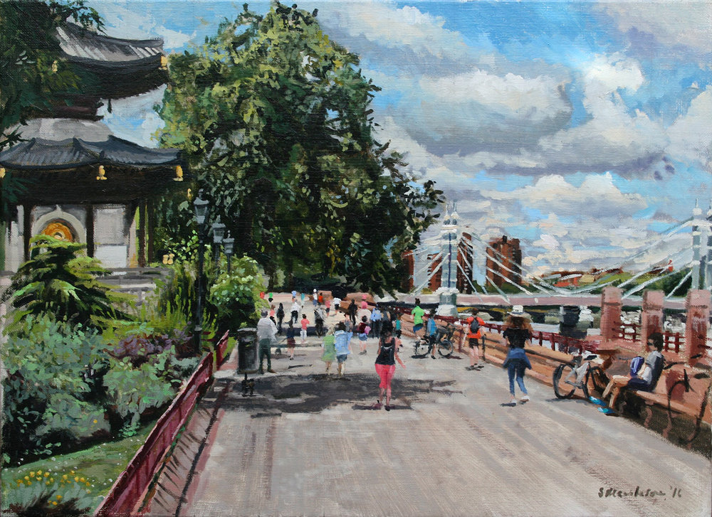 BATTERSEA PARK (STUDY)   2016 | oil on linen | 40x55cm  £1100 (framed by the Frame Library)