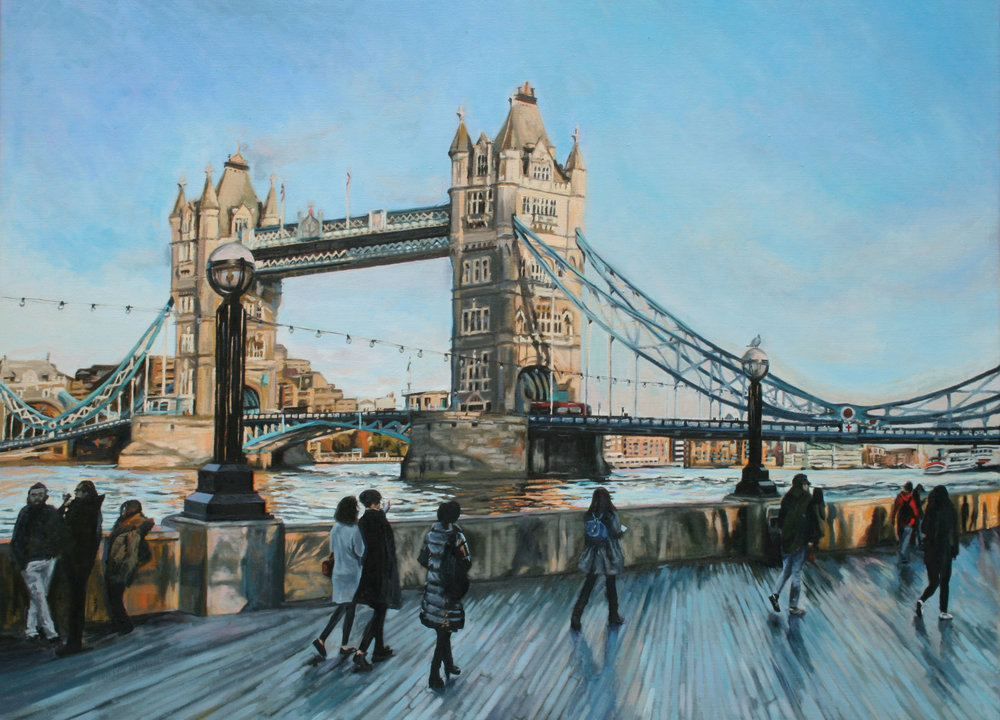 TOWARDS BUTLER'S WHARF   2015 | oil on linen | 90x120cm  SOLD