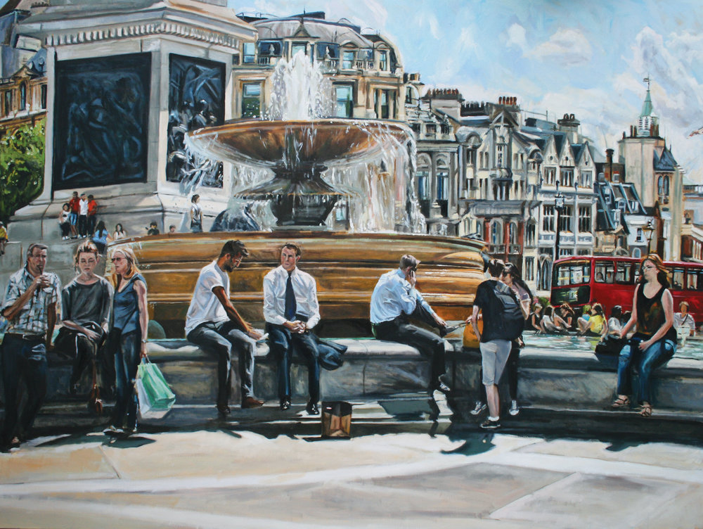 LUNCH BREAK   2014 | oil on canvas | 120x90cm  £3200