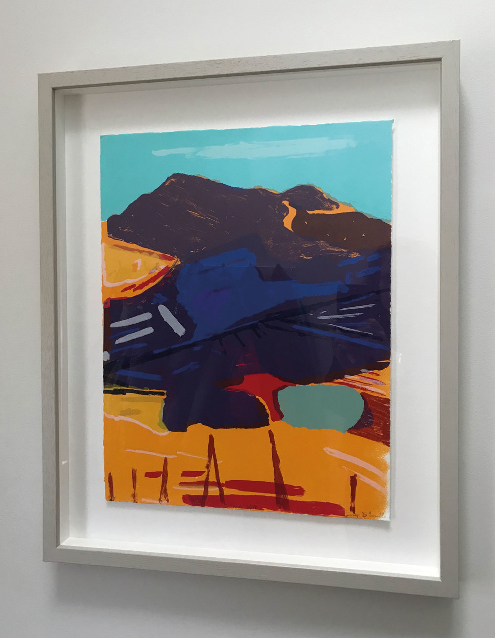 The second purchase I made for my collection was in 2009. A screen print by Giuseppe D'Innella, a colourist who produces bold, expressive abstracted landscapes. Such is his precise technique in terms of colour selection and practice, I subsequently bought another of his prints.   www.giuseppedinnella.co.uk