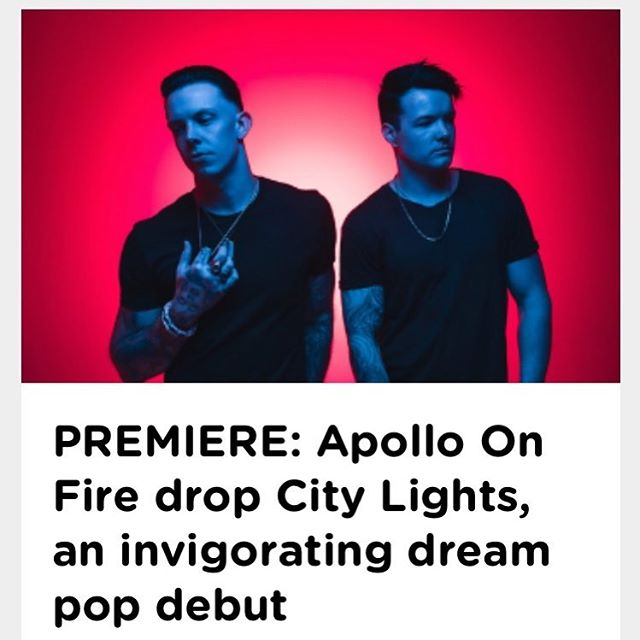 "Link in Bio! We're so excited to finally be able to say our EP ""City Lights"" is out now! Thank you to the amazing people @happymagtv and our boy Jonny @holymolyartists_ ❤️ #apolloonfire #citylights #newalbum #newrelease #indie #dreampop #happymag #holymolyartists"